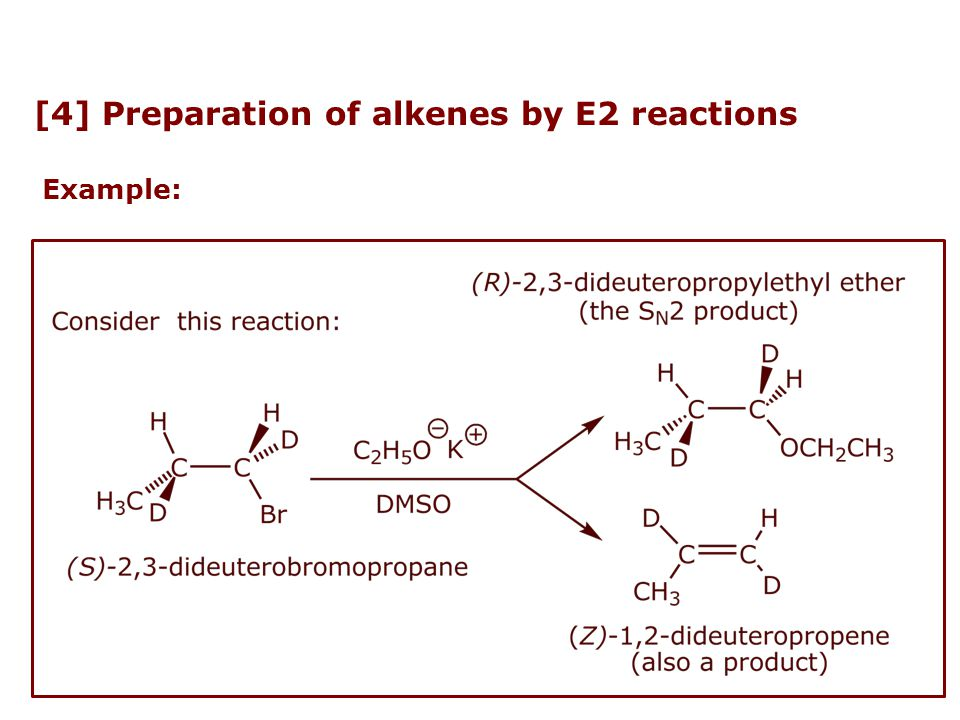 [4] Preparation of alkenes by E2 reactions